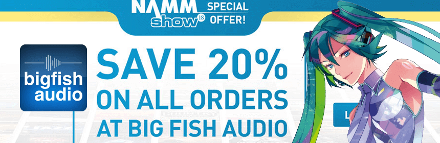 20% off at BigFishAudio Including Crypton & Zero-G Products