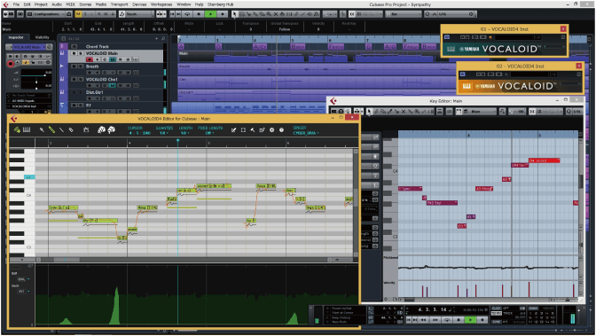 Screenshot of Vocaloid 4 in Cubase